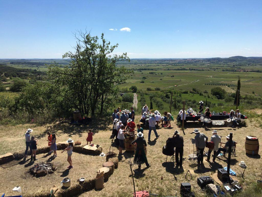 Les vignerons associés du Domaine Allegria font la fête dans les vignes