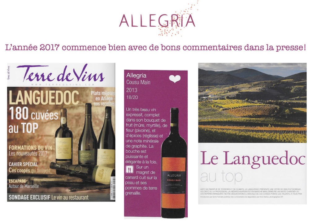 article terre de vins allegria cousu main
