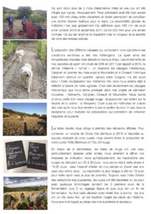 gazette domaine Allegria le millesime 2017